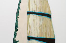 Elise Church, Stormy Sea Through Trees, 2015